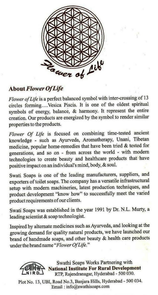 Flower of life product list.