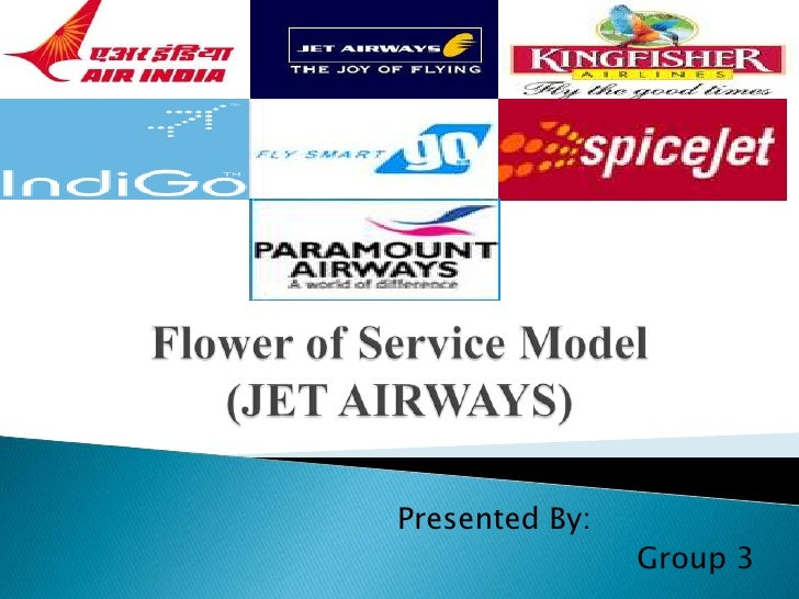 Flower of Service Model(JET AIRWAYS)<br />		Presented By:<br />				Group 3<br />