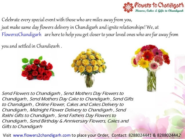 Send Mothers Day Flowers To Chandigarh