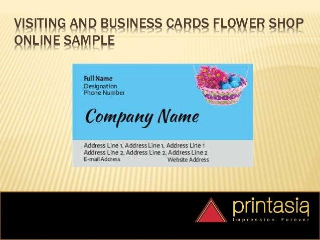 Visiting Card Flower Shop | Printasia.in