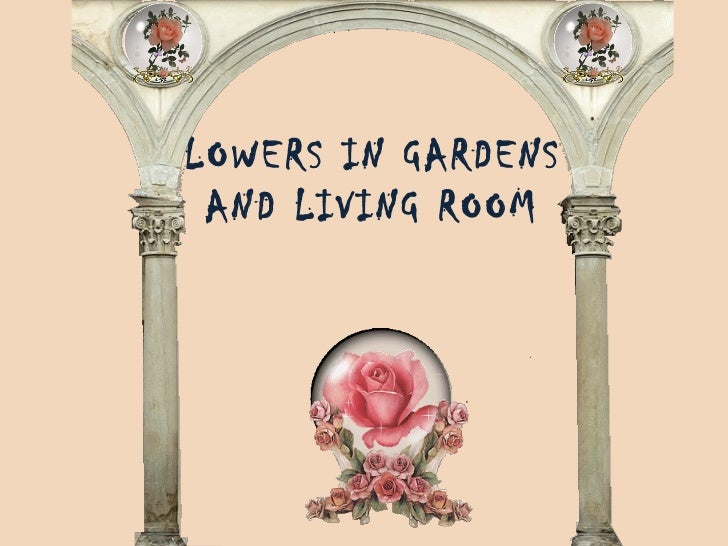 FLOWERS IN GARDENS  AND LIVING ROOM
