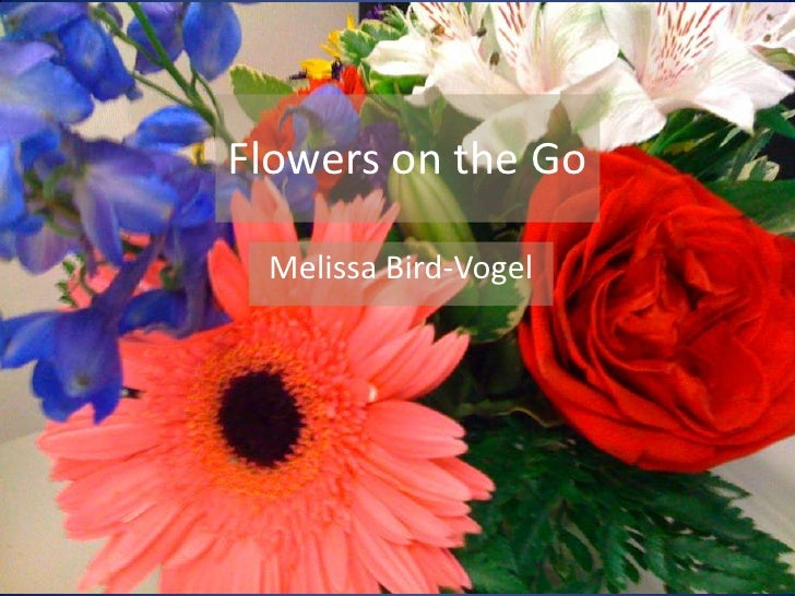 Flowers on the Go<br />Melissa Bird-Vogel<br />