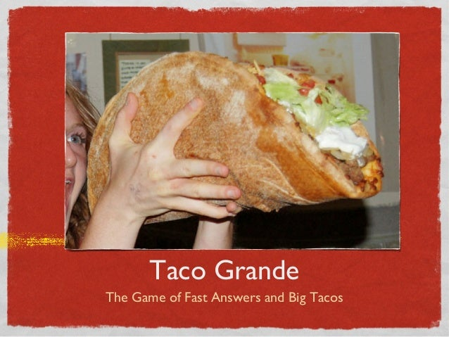 Taco Grande The Game of Fast Answers and Big Tacos