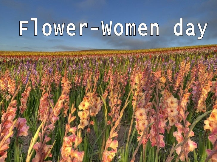 Flower women day