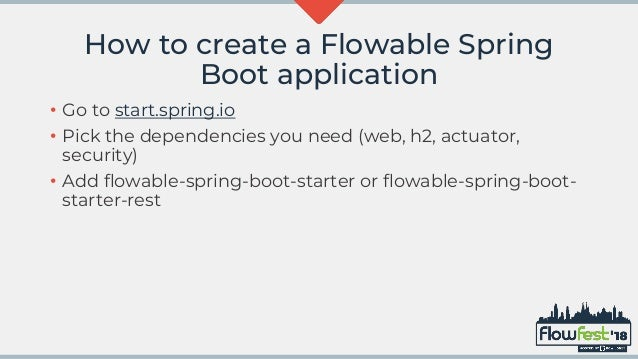 Building your own Flowable Spring Boot application