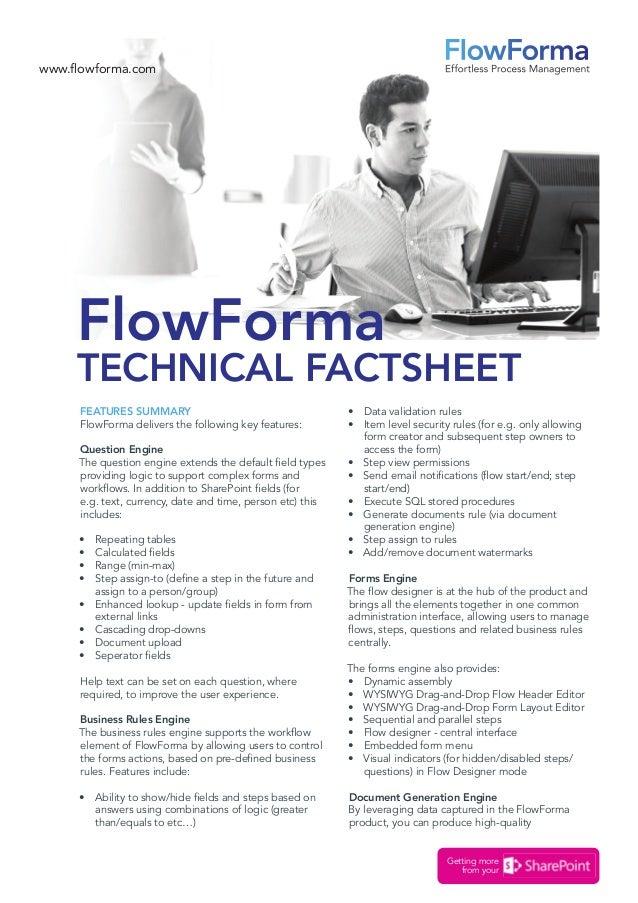 flowforma technical factsheet