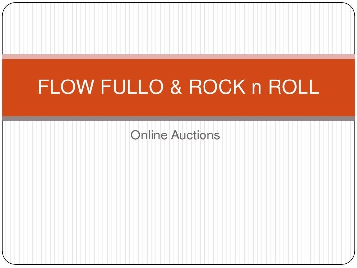 Online Auctions<br />FLOW FULLO & ROCK n ROLL<br />