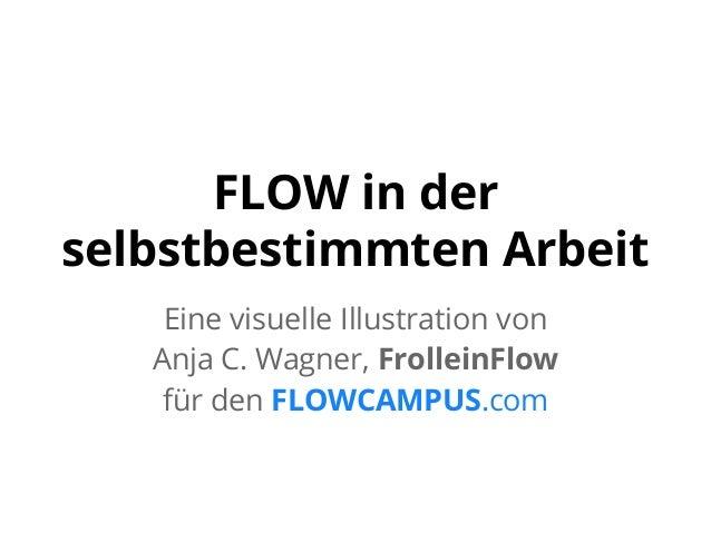 FLOW in der selbstbestimmten Arbeit Eine visuelle Illustration von Anja C. Wagner, FrolleinFlow für den FLOWCAMPUS.com