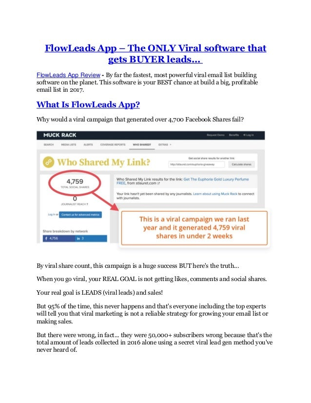 FlowLeads App – The ONLY Viral software that gets BUYER leads... FlowLeads App Review - By far the fastest, most powerful ...