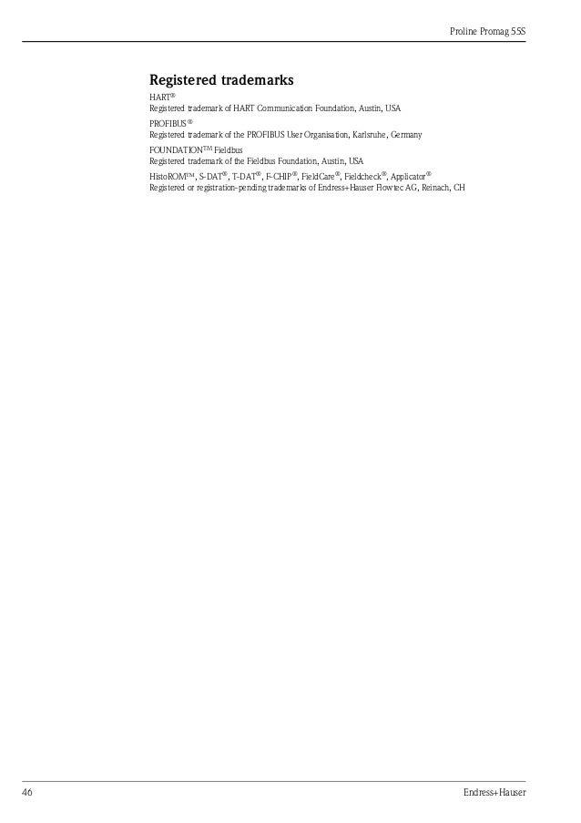 Flowmeter Promag SElectromagneticEndress Hauser