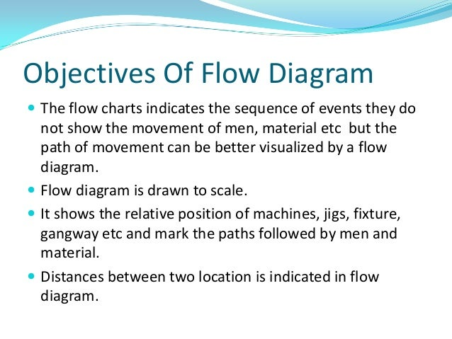 objectives of flow diagram