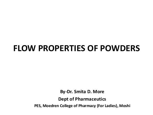 Flow properties of powders