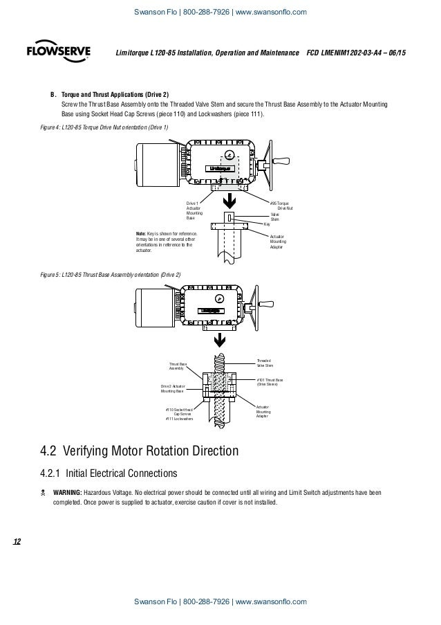 flowserve limitorque l120 85 electric actuator iom rh slideshare net limitorque l120-20 wiring diagram limitorque l120 actuator wiring diagram