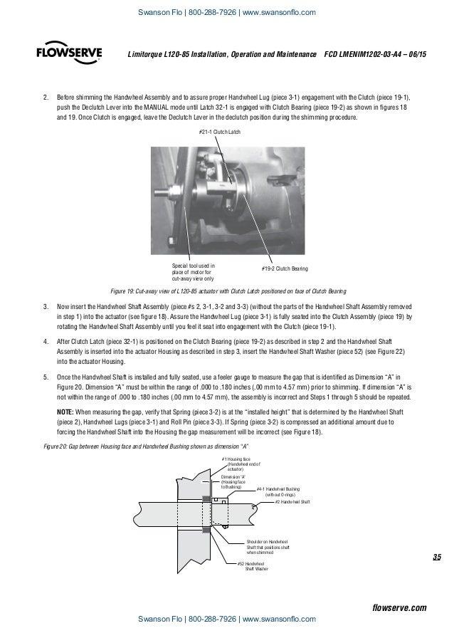 Flowserve Limitorque L120-85 Electric Actuator IOM on