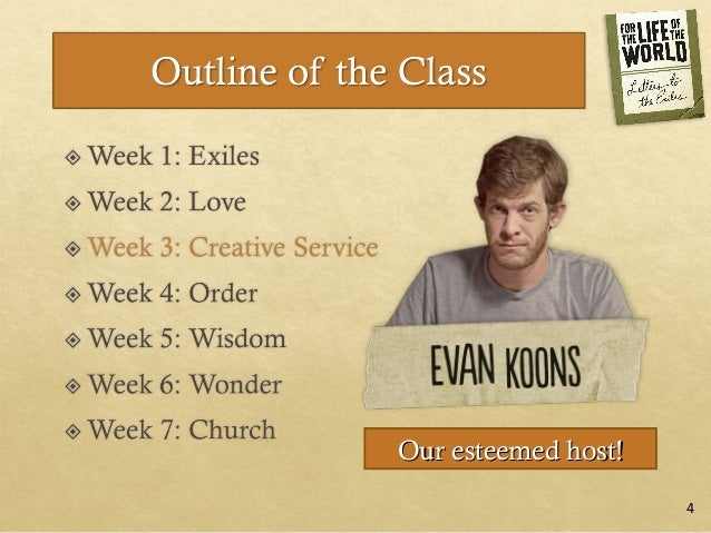 For the Life of the World: Session 3 Creative Service Slide 3