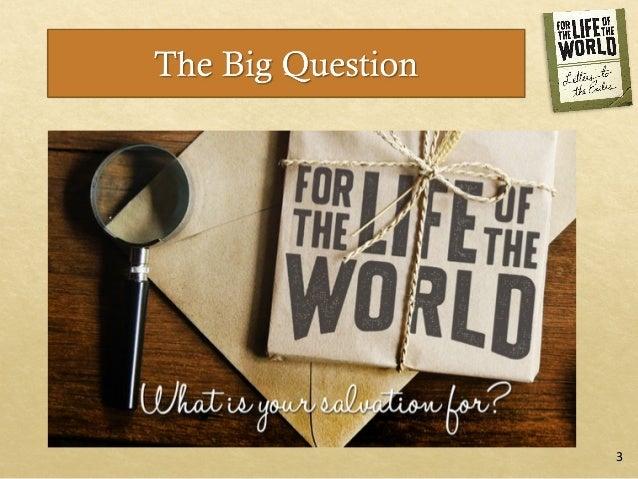 For the Life of the World: Session 6, Wonder Slide 2