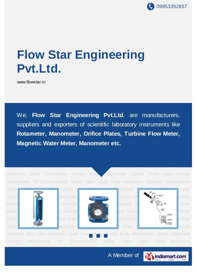 09953352657     Flow Star Engineering     Pvt.Ltd.     www.flowstar.inRota Meter Flow Meter Level Switch Level Indicator P...
