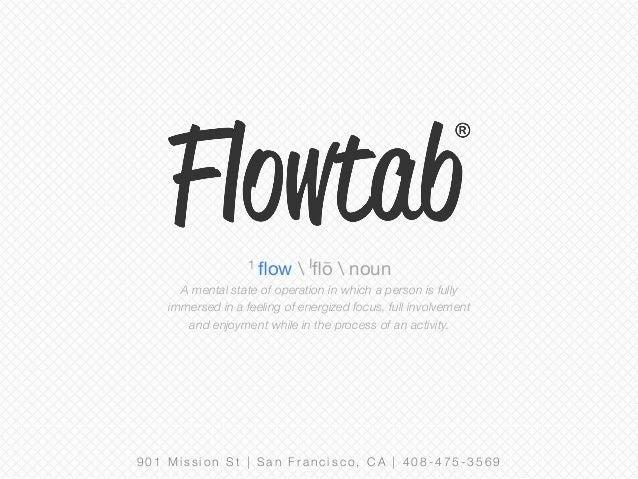 Flowtab Initial VC Raising Pitch Deck