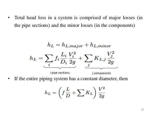 Flow through pipes