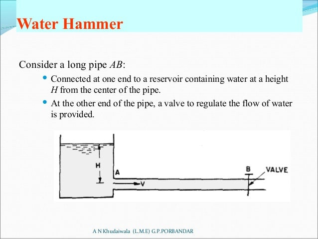 Water Hammer Consider a long pipe ...  sc 1 st  SlideShare : water flow through pipes - www.happyfamilyinstitute.com