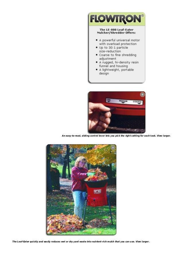 Flowtron le 800 leaf-eater electric leaf shredder