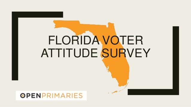 FLORIDA VOTER ATTITUDE SURVEY