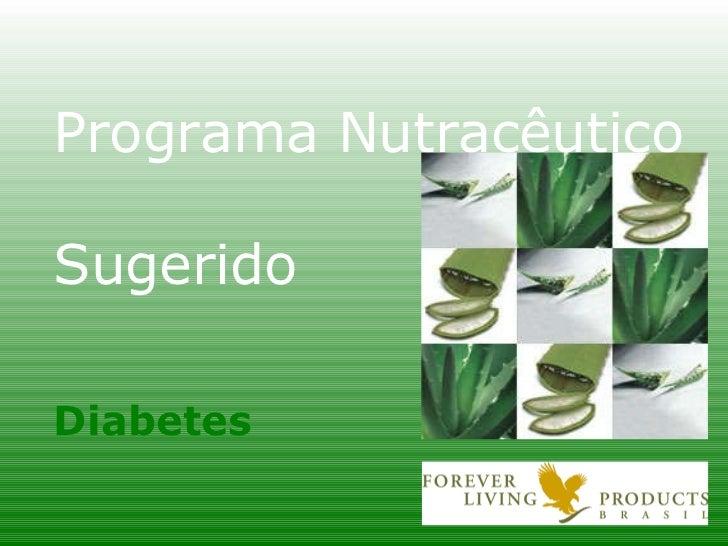 Programa Nutracêutico Sugerido Diabetes