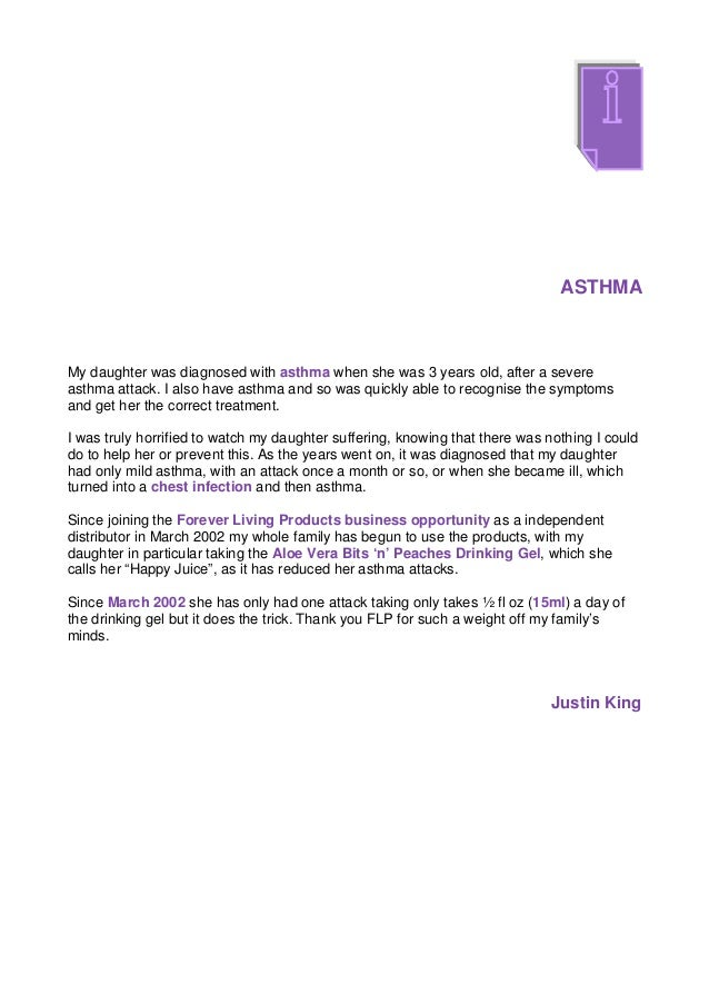 ASTHMAMy daughter was diagnosed with asthma when she was 3 years old, after a severeasthma attack. I also have asthma and ...