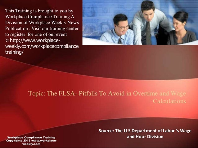 This Training is brought to you byWorkplace Compliance Training ADivision of Workplace Weekly NewsPublication . Visit our ...