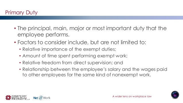 exempt work rules