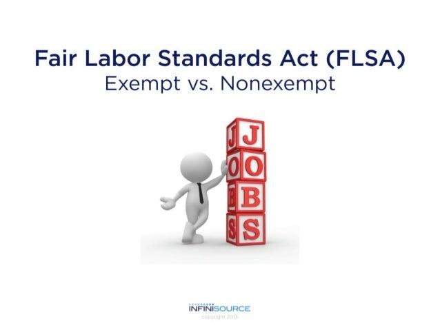 FLSA Classified Material - Exempt vs. Nonexempt