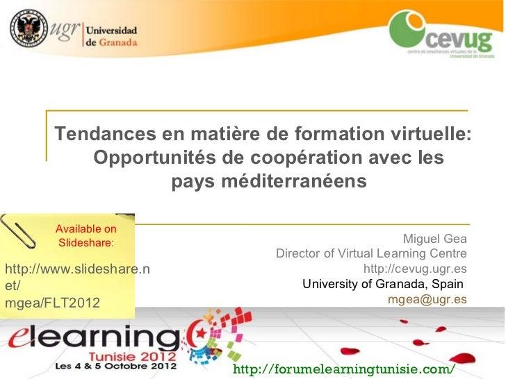 Tendances en matière de formation virtuelle:          Opportunités de coopération avec les                  pays méditerra...