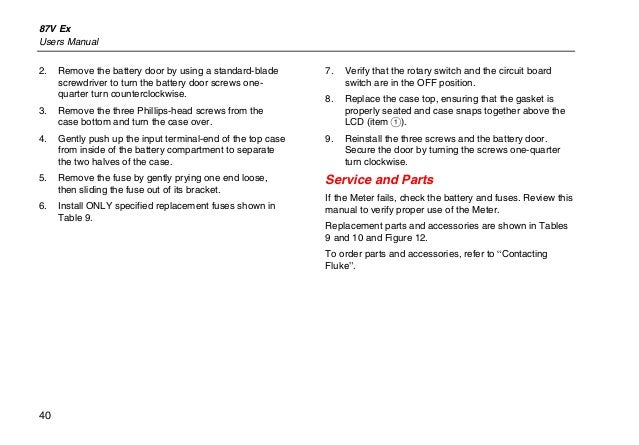 Flu 87 manual