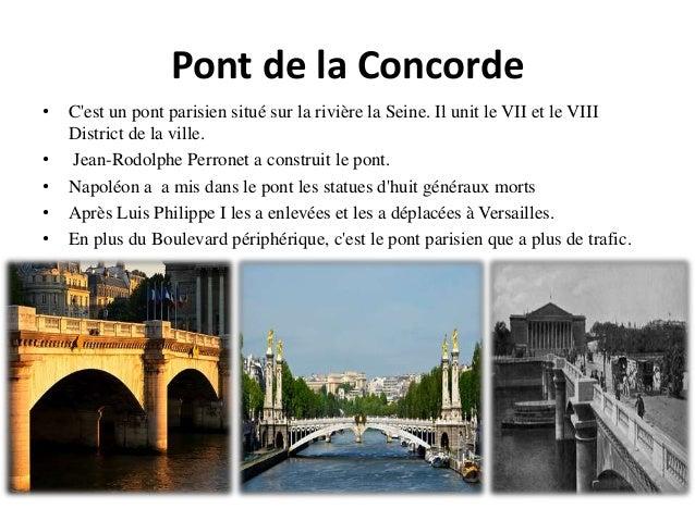 Pont de la Concorde • C'est un pont parisien situé sur la rivière la Seine. Il unit le VII et le VIII District de la ville...