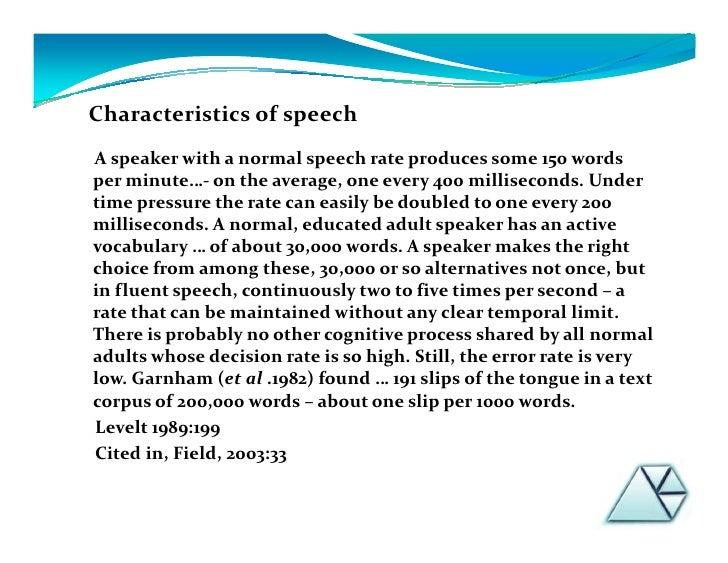words for min through speech