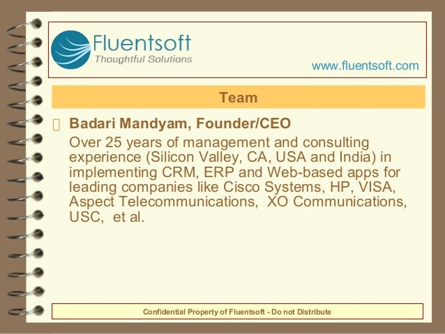 Badari Mandyam, Founder/CEO Over 25 years of management and consulting experience (Silicon Valley, CA, USA and India) in i...
