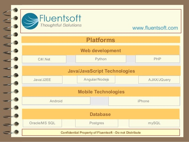 mySQLPostgresOracle/MS SQL Database iPhone Mobile Technologies Android Web development Python PHPC#/.Net Java/JavaScript T...