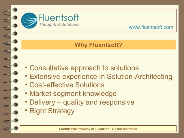 • Consultative approach to solutions • Extensive experience in Solution-Architecting • Cost-effective Solutions • Market s...
