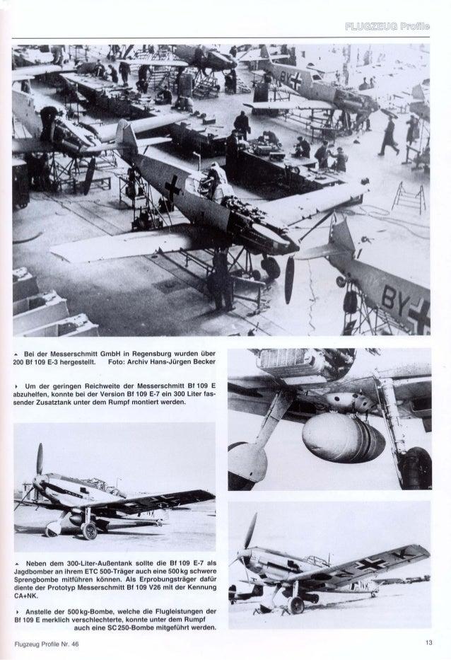 Flugzeug profile 46   messerschmitt bf 109 e varianten