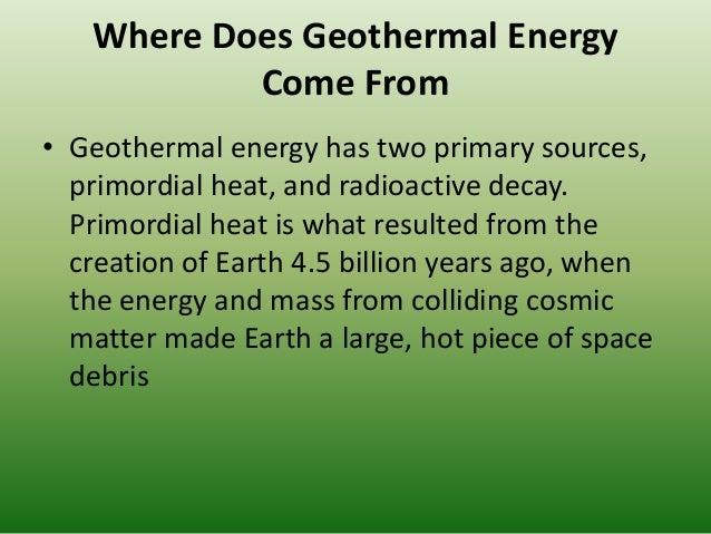 Essay on Geothermal Energy