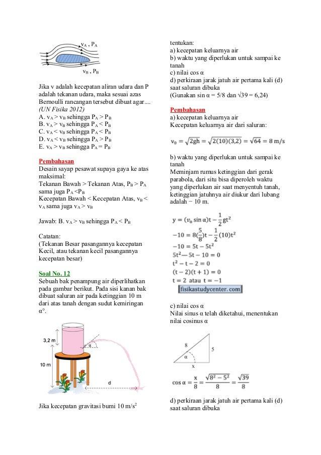 Ilmu Pengetahuan 2 Contoh Soal Fisika Fluida Statis Dan Dinamis
