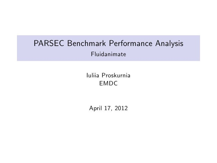 Fluidanimate:PARSEC Application Analysis