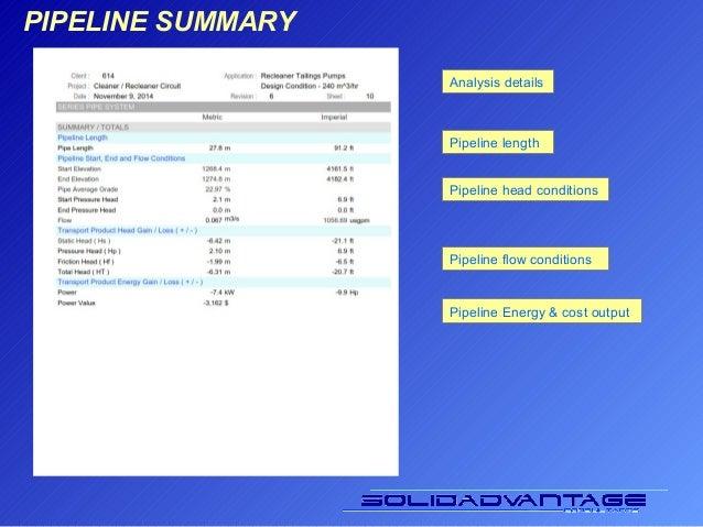 Slurry Transport Analysis Presentation