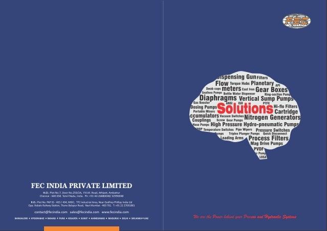 Fec India Private Limited, Chennai, Accumulators and Pumps