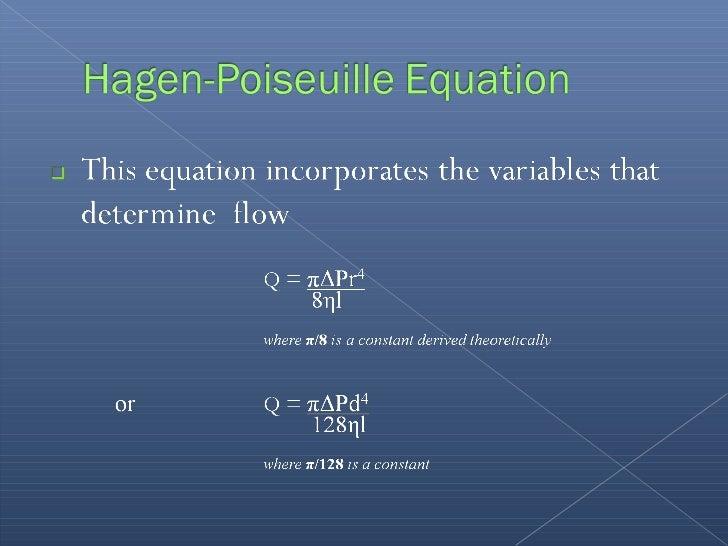Poiseuille's Law calculator -- EndMemo
