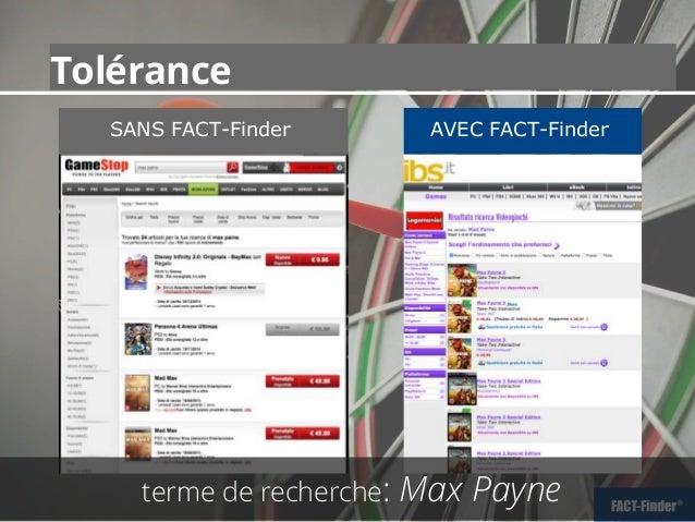 SANS FACT-Finder AVEC FACT-Finder Tolérance terme de recherche: Max Payne