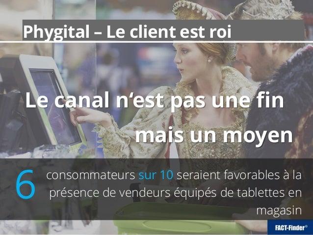 Phygital – Le client est roi Le canal n'est pas une fin mais un moyen consommateurs sur 10 seraient favorables à la présen...