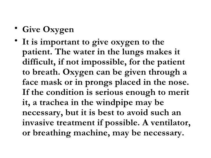 Fluid Lungs Treatment