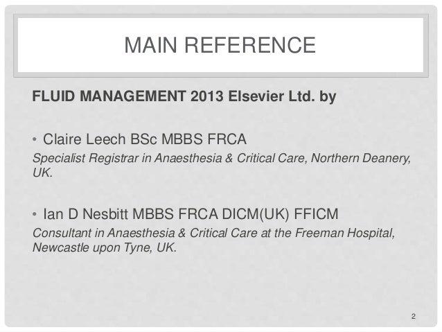 Fluid management Slide 2