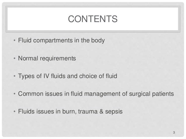 Fluid management Slide 3